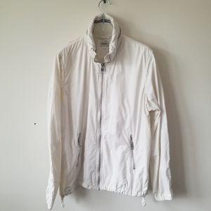 Diesel jacket windbreaker cream white sz Medium